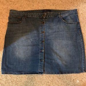 Button Up Denim mini skirt